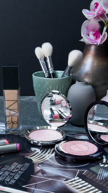 5 makeup products (By Terry, Becca, Nars, YSL, Dior)