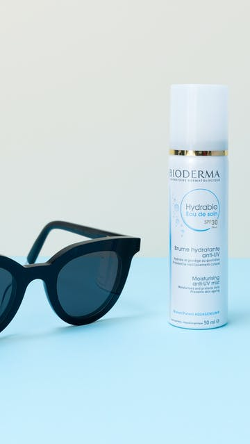 Bioderma Hydrabio Eau De Soin SPF30 mist, Gentle Monster sunglasses