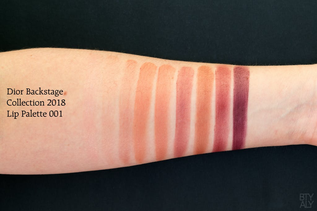 Dior Backstage collection Summer 2018: Lip Palette 001 swatches