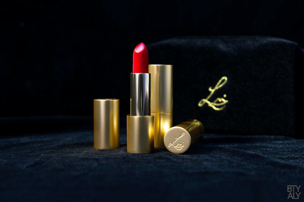 Lisa Eldridge Plush True Velvet Lipstick Colour Velvet Ribbon, Velvet Pouch