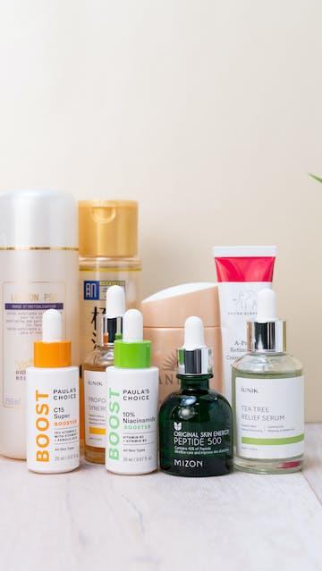 NuFace, Biologique Recherche, Paula's Choice, Mizon, Iunik, Shiseido, Drunk Elephant, Hada Labo