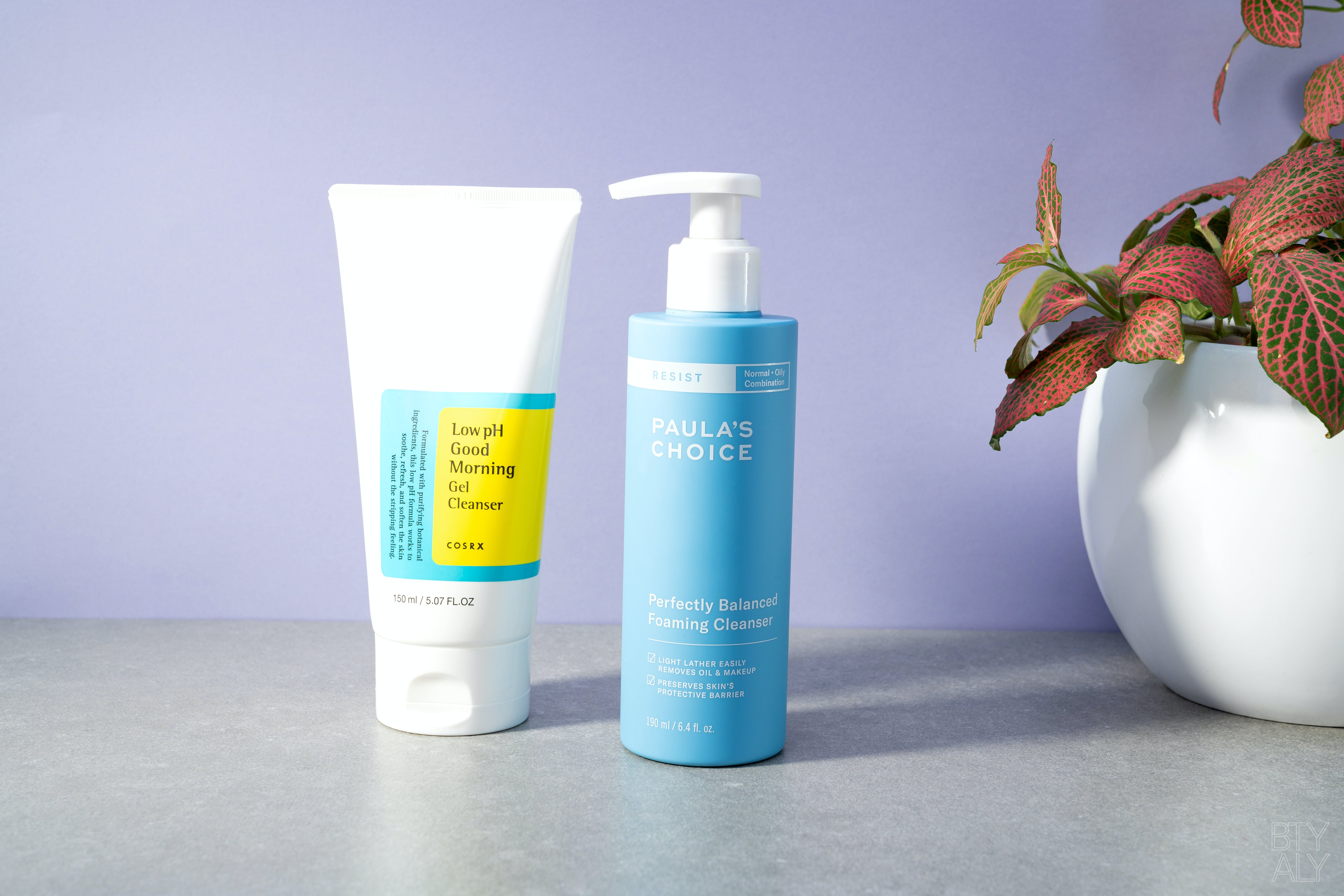 Paula's Choice Perfectly Balanced Foaming Cleanser, Cosrx Low pH Good Morning Gel Cleanser