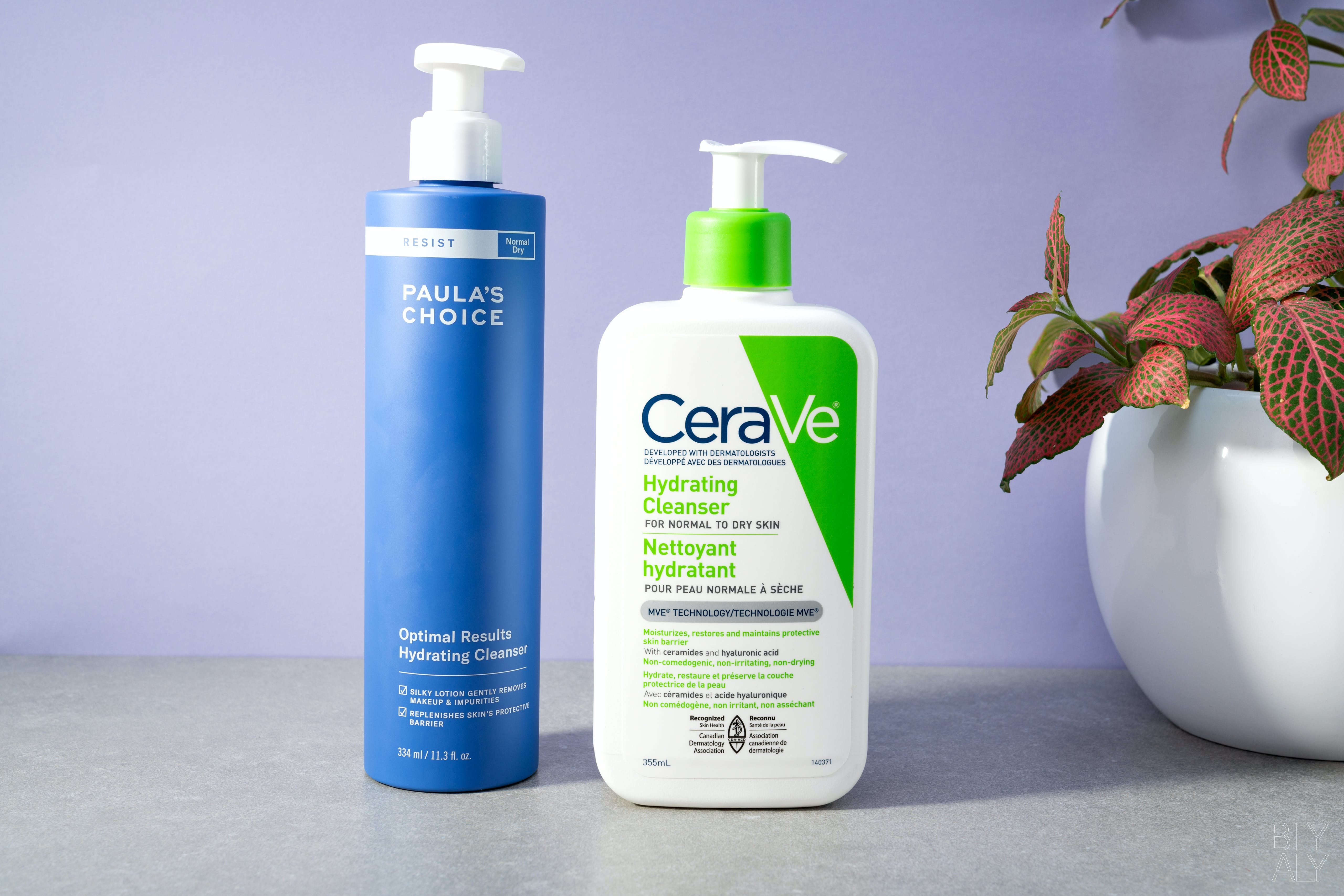 Paula's Choice Optimal Results Hydrating Cleanser, CeraVe Hydrating Cleanser