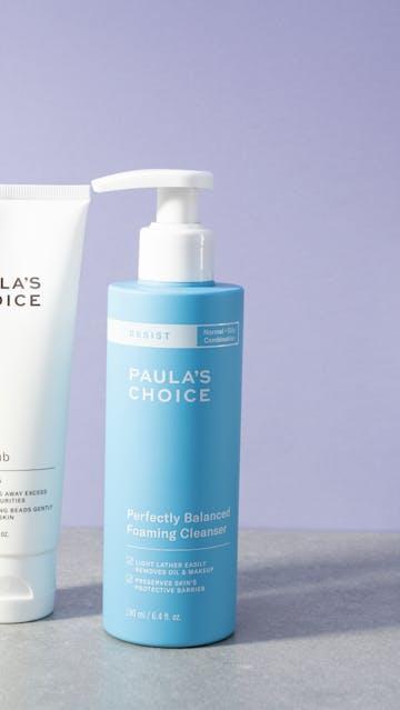 Paula's Choice Perfectly Balanced Foaming Cleanser, Paula's Choice The Unscrub