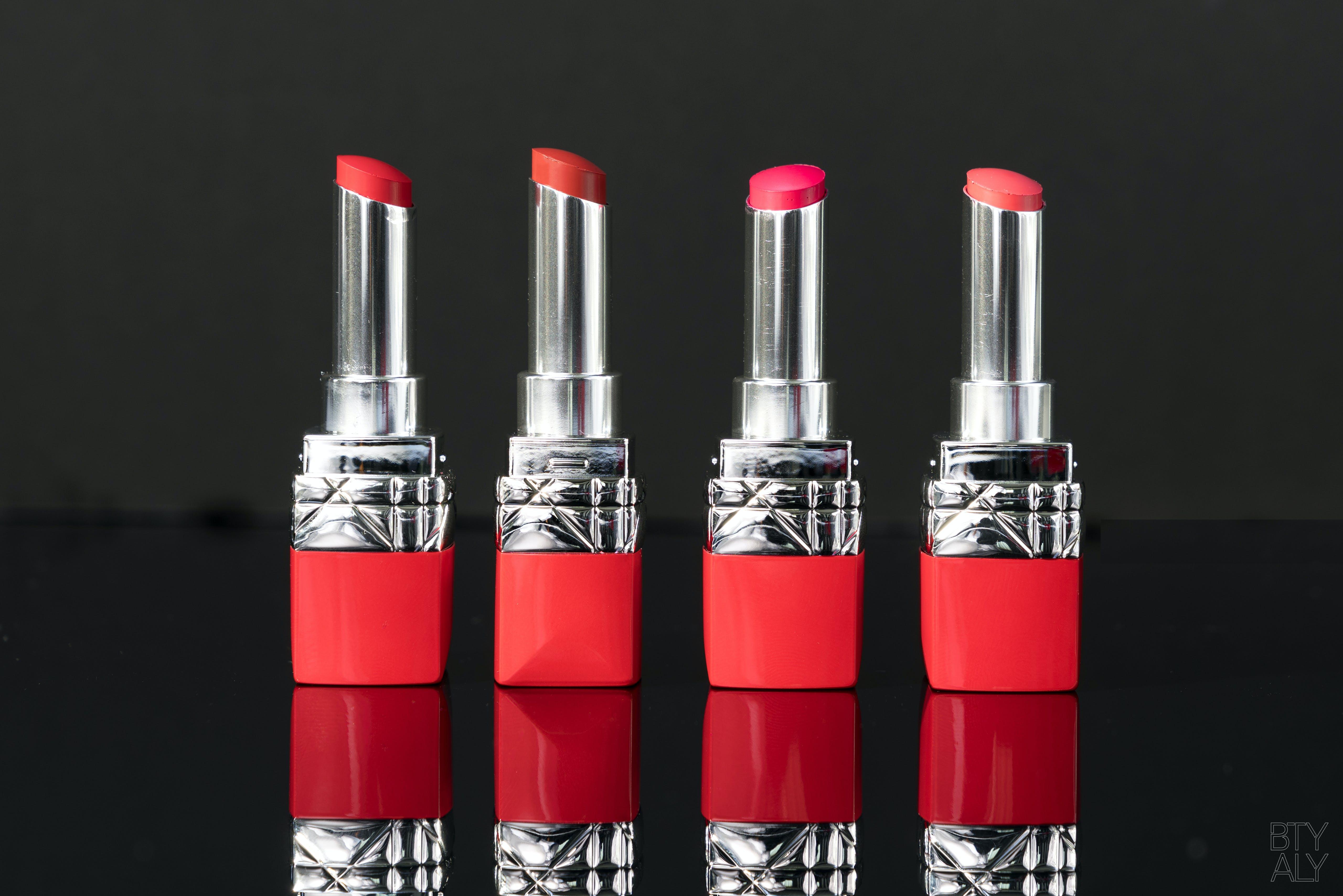 Rouges à lèvres Rouge Dior Ultra Rouge 555, 641, 763, 999