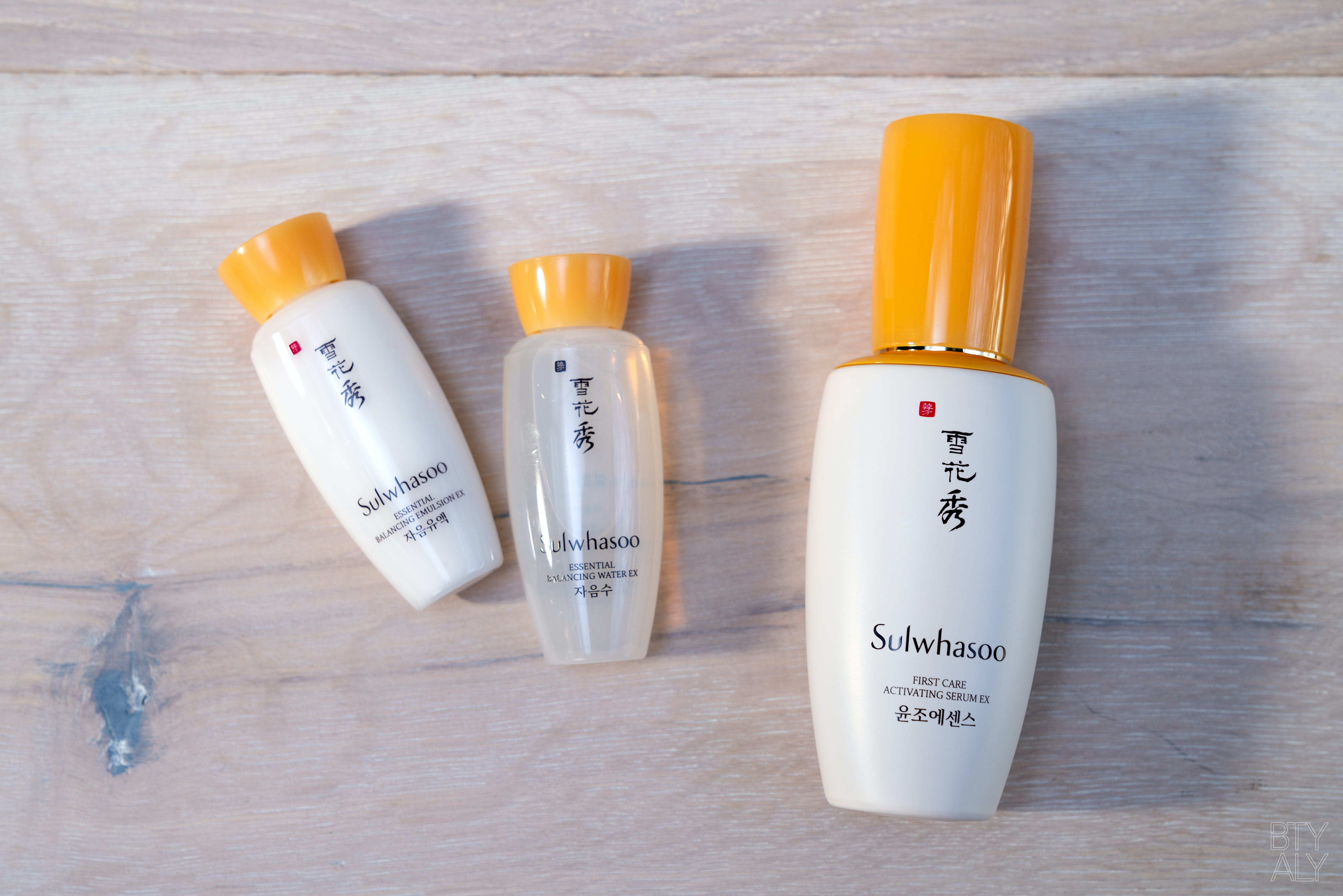 Sulwhasoo First Care Activating Serum EX, Essential Balancing Water EX, Essential Balancing Emulsion EX