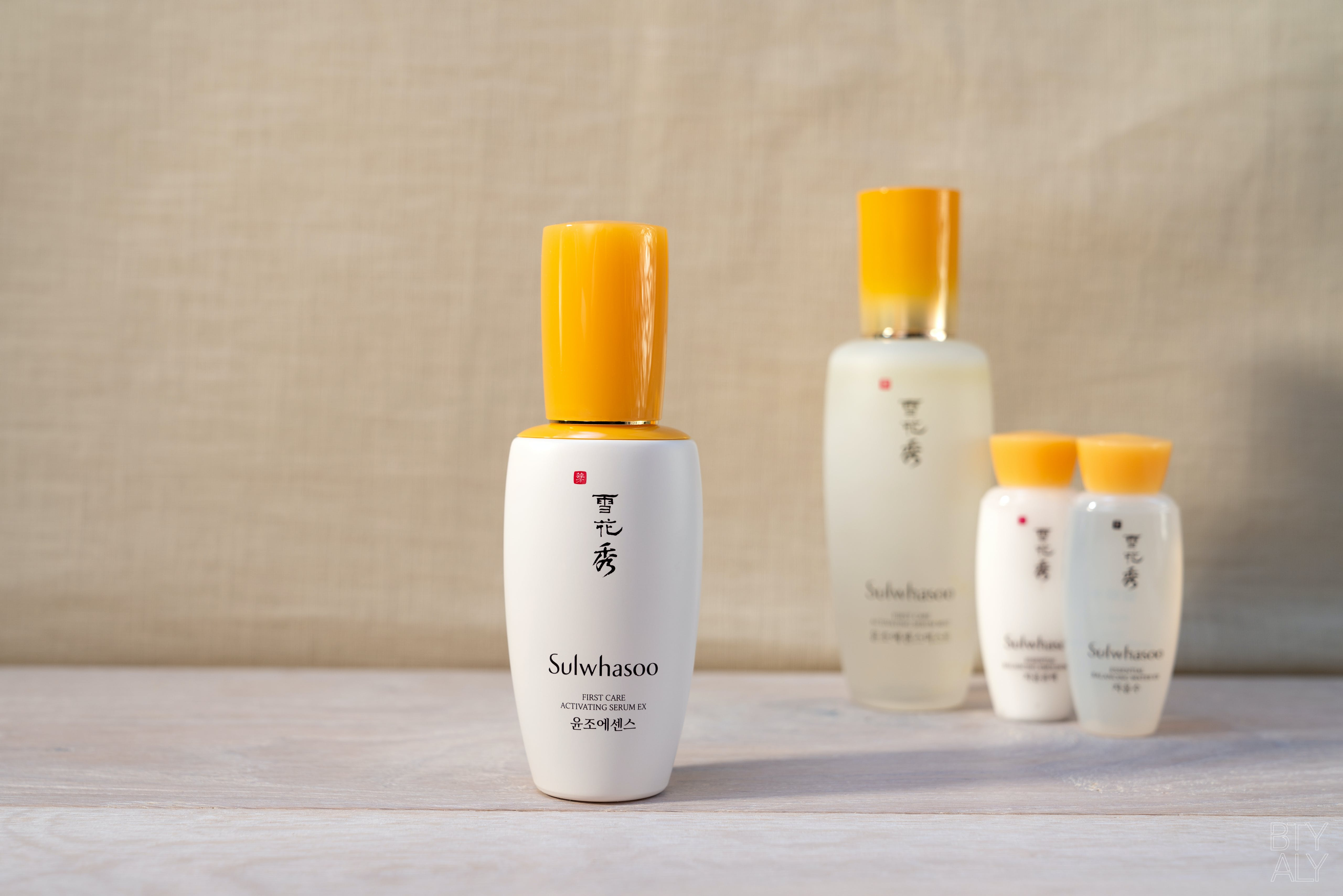 Sulwhasoo First Care Activating Serum EX, Sulwhasoo First Care Activating Serum Mist EX, Essential Balancing Water EX, Essential Balancing Emulsion EX