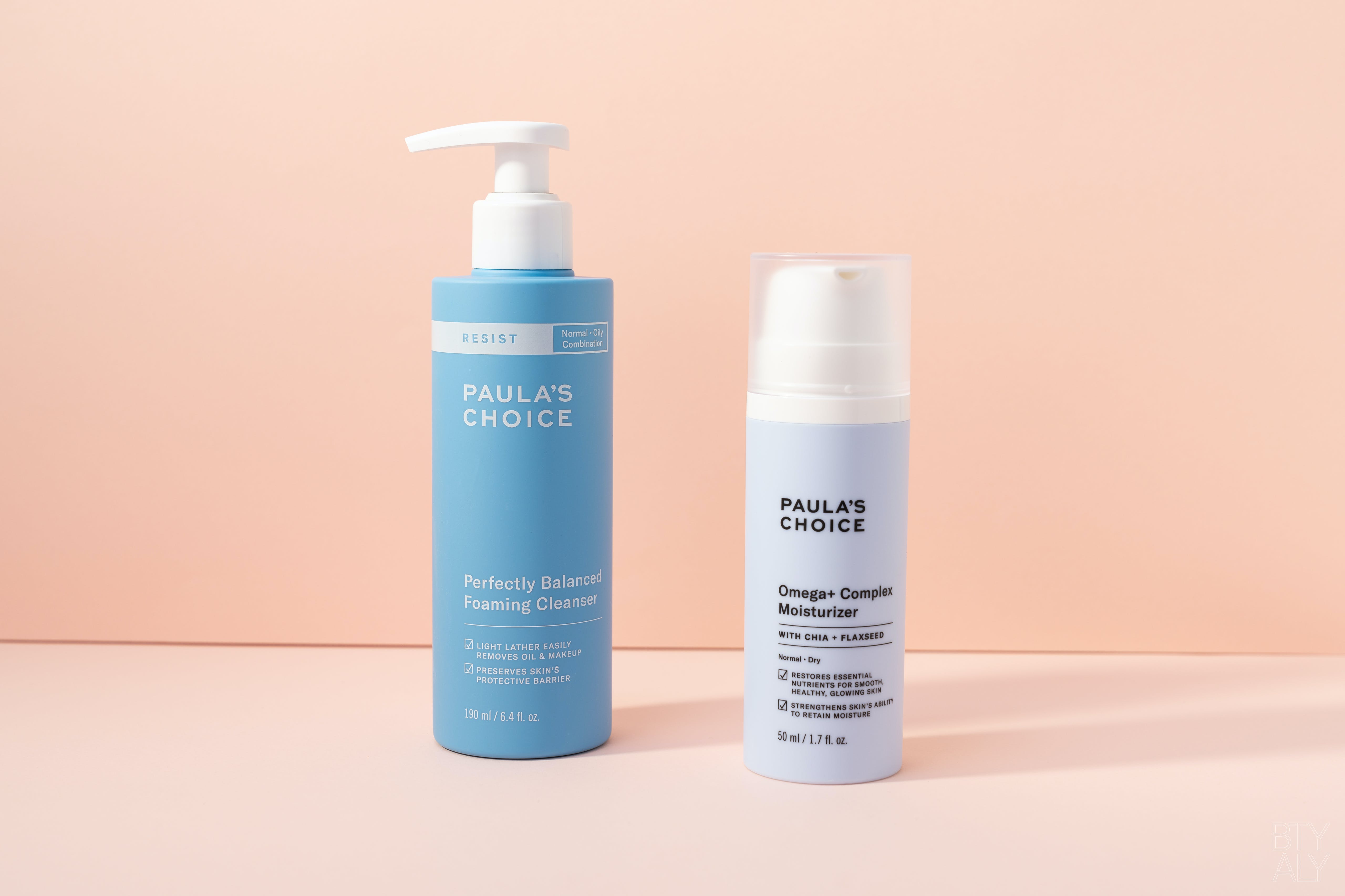 Paula's Choice Perfectly Balanced Foaming Cleanser, Omega + Complex Moisturizer