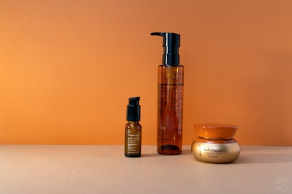 Shu Uemura Ultime8 Sublime Beauty Cleansing Oil, Dr Dennis Gross Ferulic Retinol Eye Serum, Sulwhasoo Concentrated Ginseng Renewing Cream EX